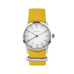 Millow Millow - Classic Watch,  Yellow Braided Silver Buckle