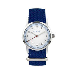 Millow Millow - Sky Watch, Midnight Blue Braided Silver Buckle