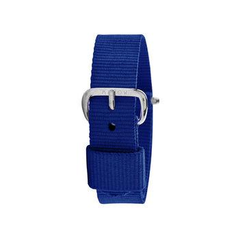 Millow Millow - Bracelet de Montre, Bleu Marine Boucle Argent
