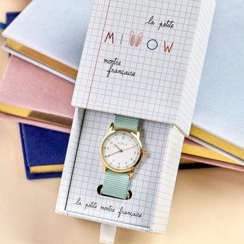 Millow Millow - Opal Watch, Mint Green Gold Buckle