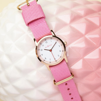 Millow Millow - Bracelet de Montre, Rose Malabar Boucle Or