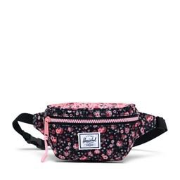 Herschel Herschel - Twelve Hip Pack, Black and Pink Flowers