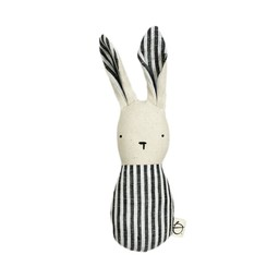Ouistitine Ouistitine - Bunny Rattle, Black and White