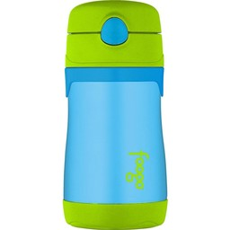 Thermos Thermos - Foogo Stainless Steel Straw Bottle , 10oz, Blue and Green