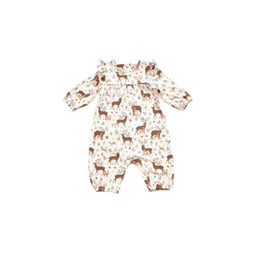 Angel Dear Angel Dear - Ruffle Sleeve Romper, Little Deer