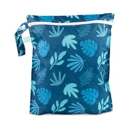 Bumkins Bumkins - Wet Bag, Blue Tropics