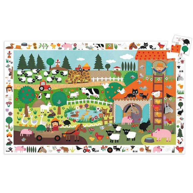 Djeco Djeco - Observation Puzzle, At the Barn