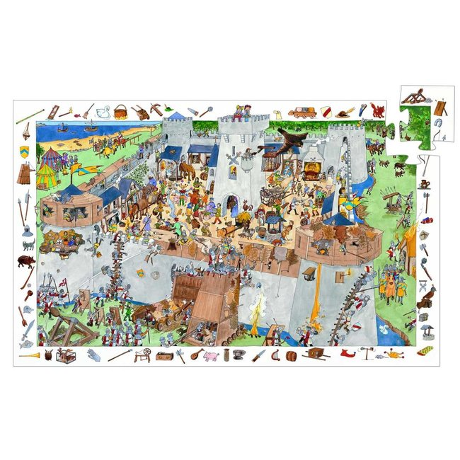 Djeco Djeco - Observation Puzzle, Fortified Castle