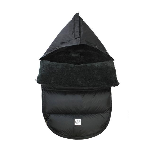 7 A.M 7A.M. - LambPOD Cover, Black Plush, 0-18 months