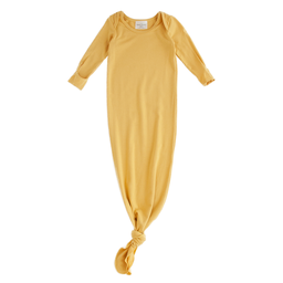 Bambi & Birdie Pajama Co. Bambi & Birdie - Baby Knotted Sleep Gown, Golden