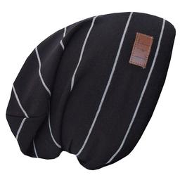 L&P L&P, Boston V4 - Tuque de Coton Rayée/Striped Cotton Beanie, Noir et Gris/Black and Grey, Junior/Junior