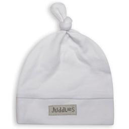 Juddlies Juddlies - Organic Newborn Hat, Grey White