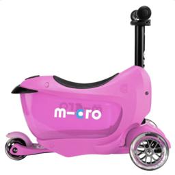 Kickboard Canada Kickboard - Trottinette Micro Mini2go Deluxe/Micro Mini2go Deluxe Scooter, Rose/Pink