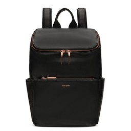 Matt&Nat Matt & Nat - Brave Backpack, Black and Pink Gold