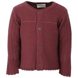 Fixoni Fixoni - Burgundy Knit Cardigan