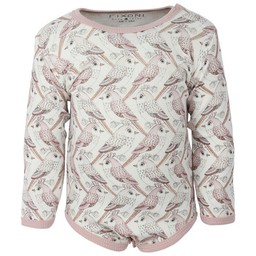Fixoni Fixoni - Long Sleeves Bodysuit, Birds Pattern