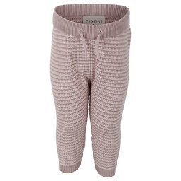 Fixoni Fixoni - Pantalon en Tricot, Rayures Roses