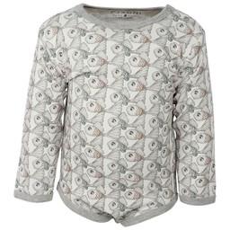Fixoni Fixoni - Long Sleeves Bodysuit, Fishes Pattern
