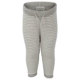 Fixoni Fixoni - Pantalon en Tricot, Rayures Grises