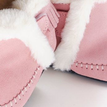 Jack & Lily Jack & Lily - My Moc Fringe Boots, Alexus, Pink Suede