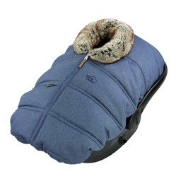 Petit Coulou Petit Coulou - Winter Baby Car Seat Cover, Jeans