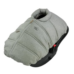 Petit Coulou Petit Coulou - Winter Baby Car Seat Cover, Light Grey
