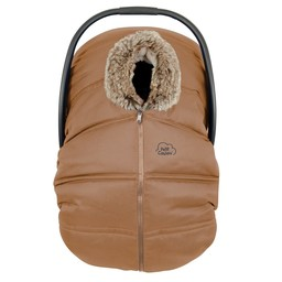 Petit Coulou Petit Coulou - Winter Baby Car Seat Cover + Polar Blanket, Cognac/Sand