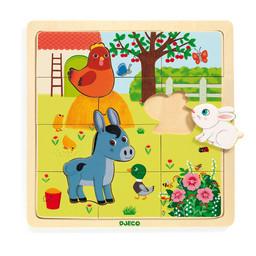 Djeco Djeco - Wooden Puzzle, Puzzlo Farm
