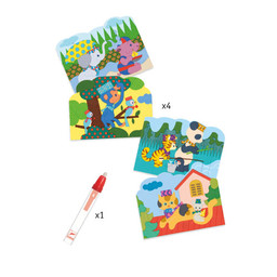 Djeco Djeco - Coloriages Magiques, Caché Dehors