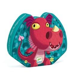 Djeco Djeco - Silhouette Puzzle, Edmond the Dragon
