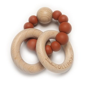 Loulou Lollipop Loulou Lollipop - Bubble Teether, Rust