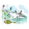 Stéphanie Renière - Greeting Card, Henry the Shark