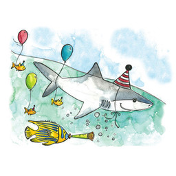 Stéphanie Renière - Greeting Card, Henry the Shark