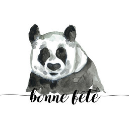 Stéphanie Renière - Greeting Card, Paul the Panda