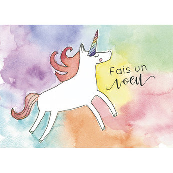 Stéphanie Renière - Greeting Card, Alice the Unicorn