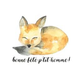 Stéphanie Renière - Greeting Card, Renaud the Fox