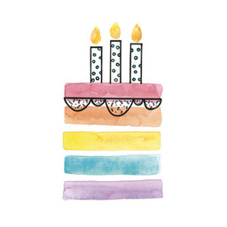 Stéphanie Renière - Greeting Card, Rainbow Cake