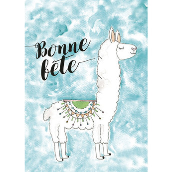 Stéphanie Renière - Greeting Card, Lalou the Llama