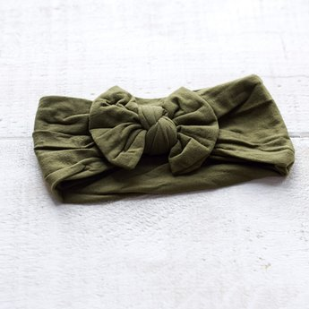 Mini Bretzel Mini Bretzel - Peony Headband, Khaki