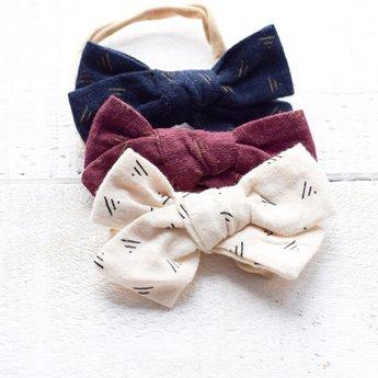 Mini Bretzel Mini Bretzel - Bows Headband Trio, Blue Red and White