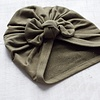 Mini Bretzel Mini Bretzel - Premium Collection Turban, Khaki Bow