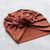 Mini Bretzel Mini Bretzel - Premium Collection Turban, Rust Bow