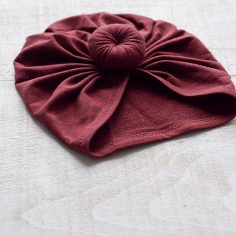 Mini Bretzel Mini Bretzel - Premium Collection Turban, Burgundy