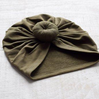 Mini Bretzel Mini Bretzel - Premium Collection Turban, Khaki