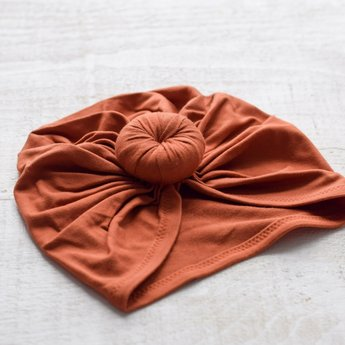 Mini Bretzel Mini Bretzel - Turban de Collection Premium, Rouille