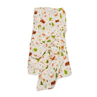 Loulou Lollipop Loulou Lollipop - Bamboo Swaddle, Forest Friends
