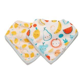Loulou Lollipop Loulou Lollipop - Muslin Bib Set of Two, Cutie Fruits
