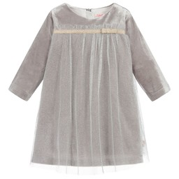 Billieblush BillieBlush - Robe Argent à Boucle/Silver Dress with Knot