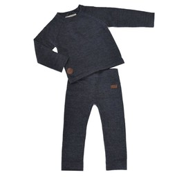 L&P L&P - Thermal Underwear Set in Merino Wool, Charcoal