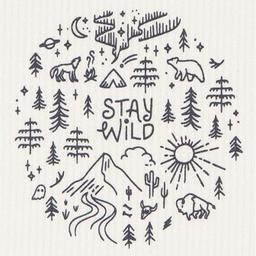 Danica Danica - Reusable Paper Towel, Stay Wild